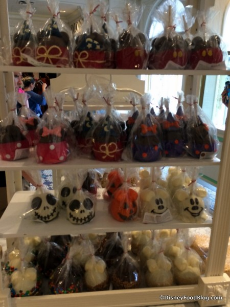 Caramel Apple Display at The Confectionery