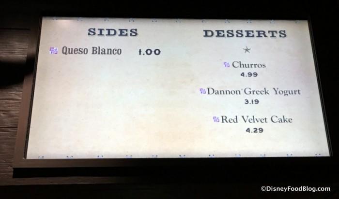Queso on the Pecos Bill menu