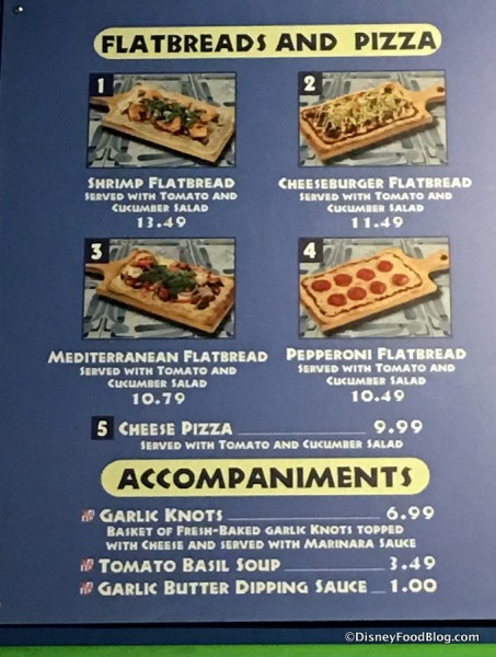 Pizzafari Menu