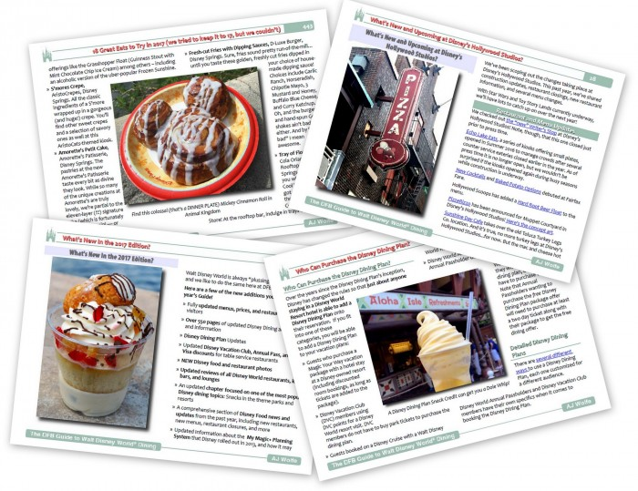 DFB Guide to Walt Disney World Dining Sample Pages
