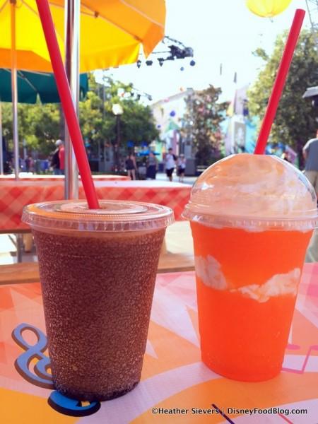 Slushies -- Cherry Coke Frozen Slush and Fanta Orange and Cream Slush