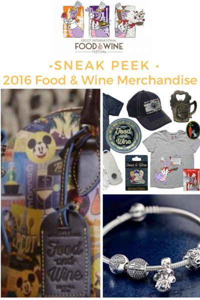 Sneak Peek: 2016 Epcot Food and Wine Festival Merchandise
