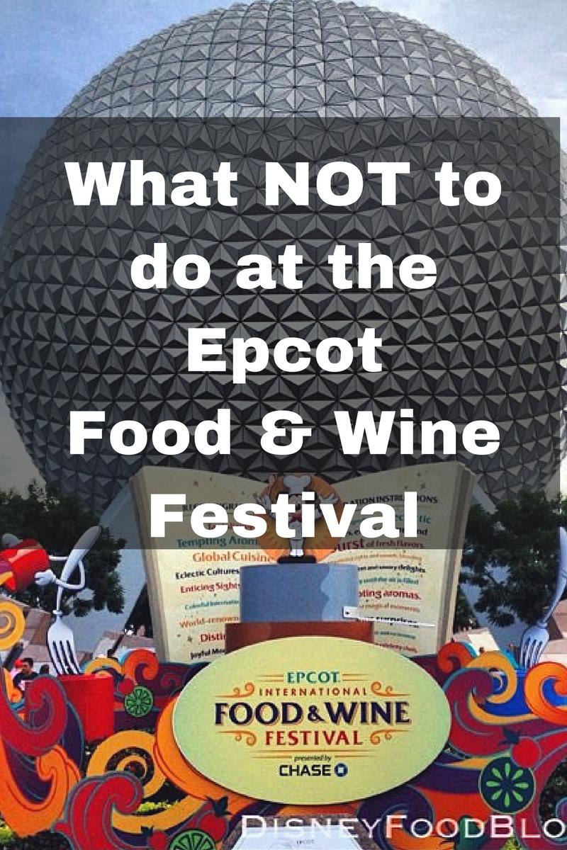 Food And Wine Fest Epcot  Menu