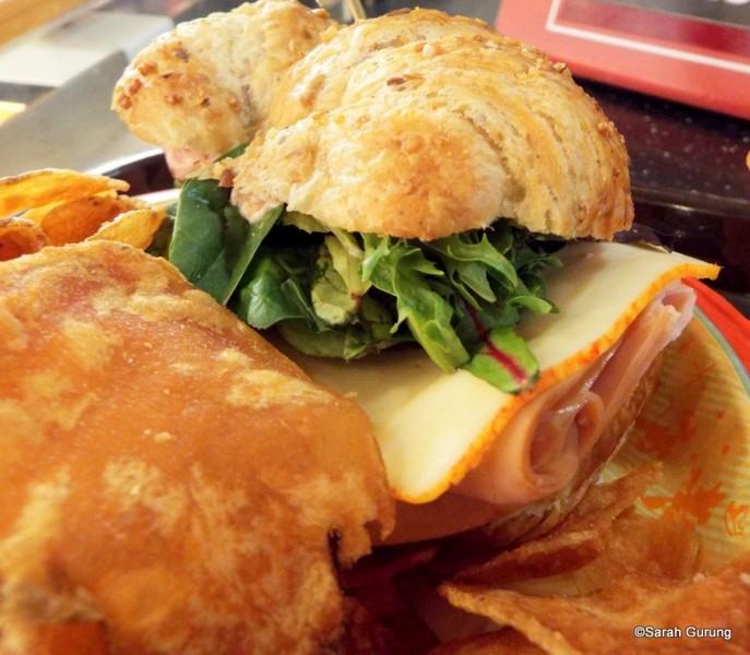 Turkey and Muenster Croissant Sandwich