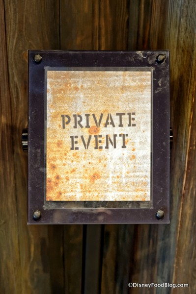 Private Event sign