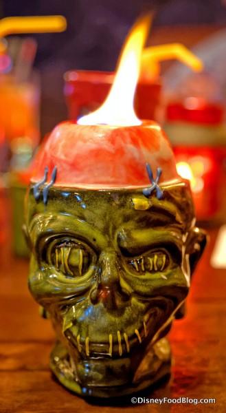 Shrunken Zombie Head Red Velvet Rum Cake