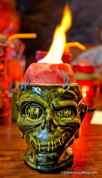 Shrunken Zombie Head... all fired up