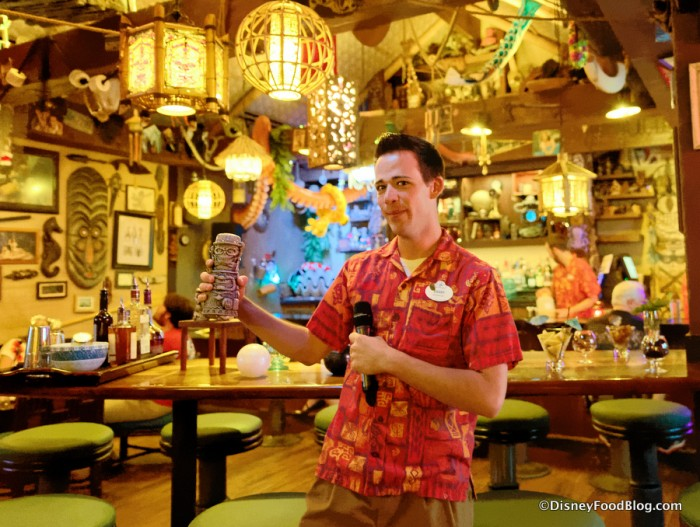 Skipper Danny with the Haunted Mansion Tiki Mug