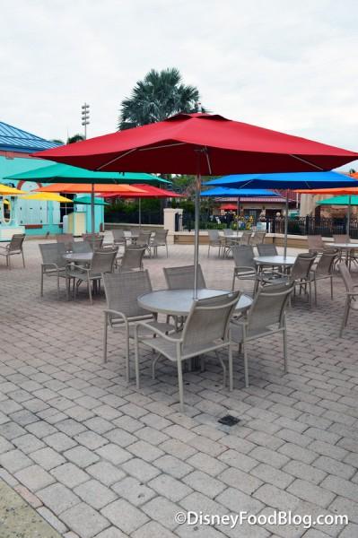Tables and Chairs at Banana Cabana