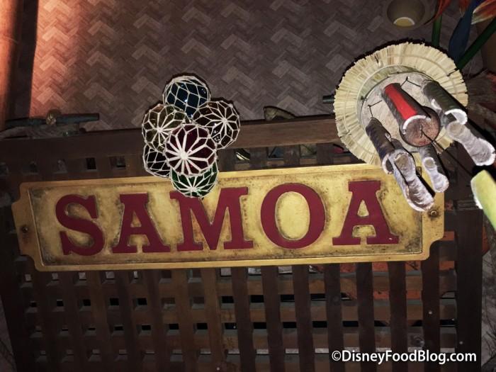Original Samoa Sign