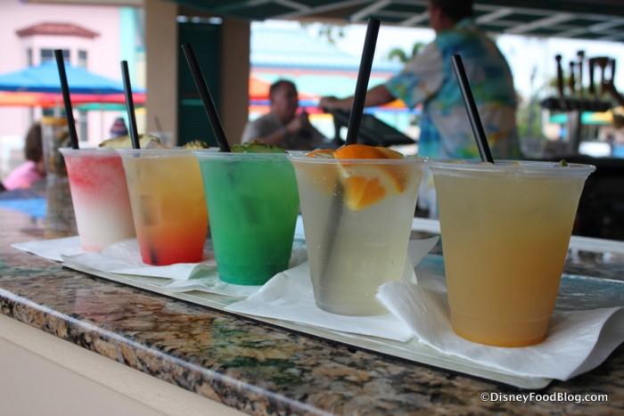Assortment of Drinks at Banana Cabana