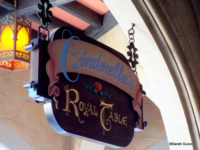 Sign outside restaurant