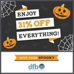 SPOOKY SAVINGS at the DFB Store! Limited Time Only…