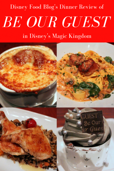Disney Food Blog's Review of Dinner at Be Our Guest Restaurant in Disney World's Magic Kingdom