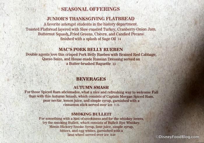 Seasonal Offerings