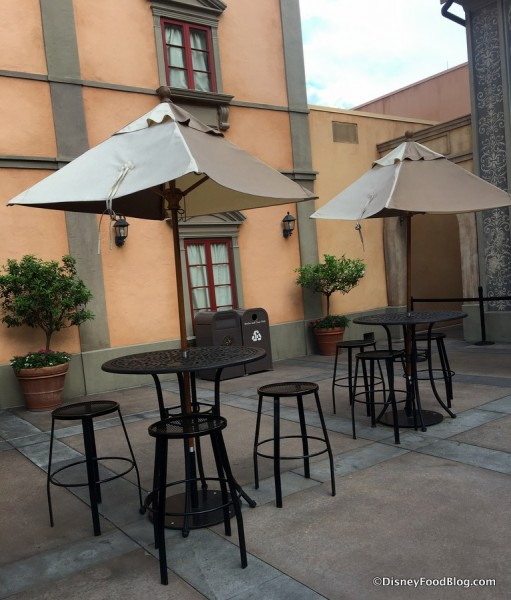 Outdoor Seating new Via Napoli Pizza Window