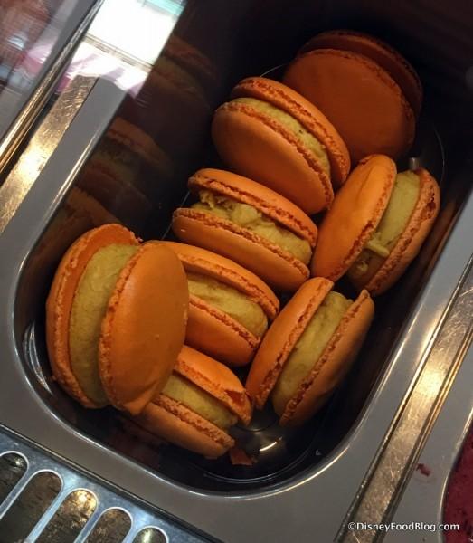 Pumpkin Spice Macaron Ice Cream Sandwiches