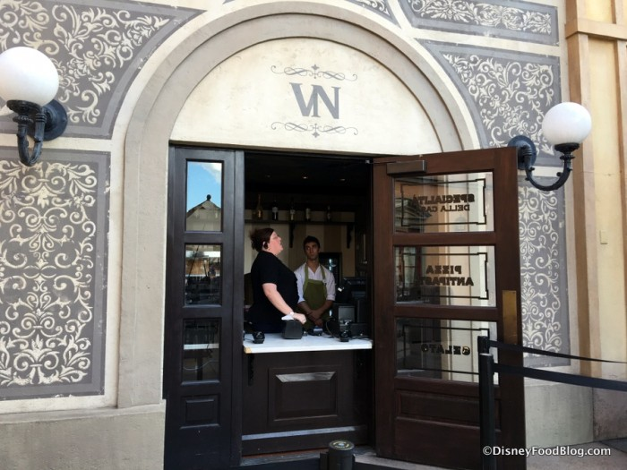 Via Napoli Pizza Window