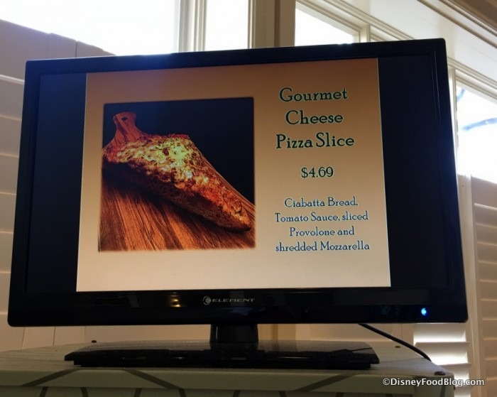 Gourmet Pizza Slices sign