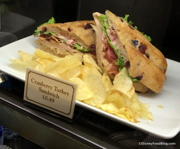 Cranberry Turkey Sandwich Display