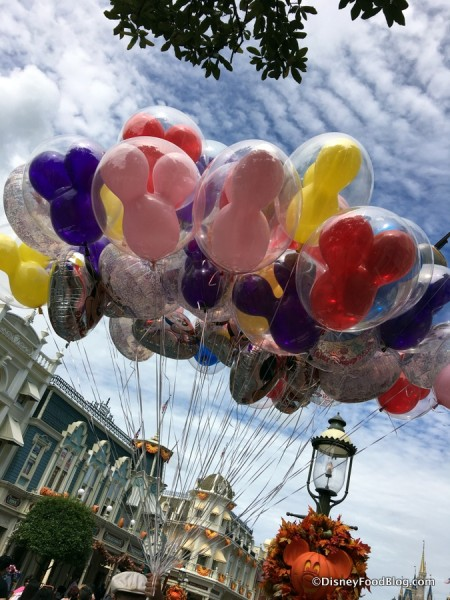 Balloons on Main Street, U.S.A.