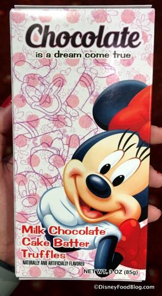 Minnie Mouse Milk Chocolate Cake Batter Truffles