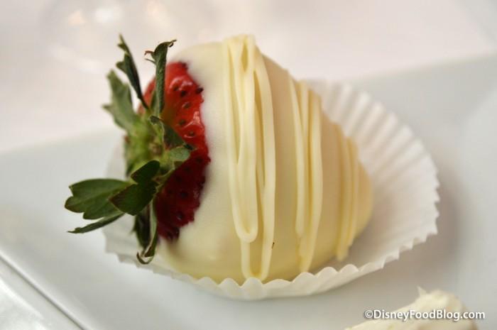 White Chocolate Dipped Strawberry