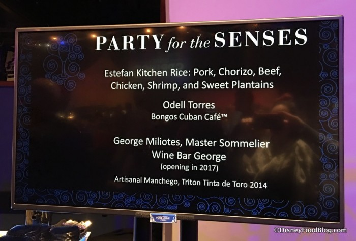 Sign at Party for the Senses