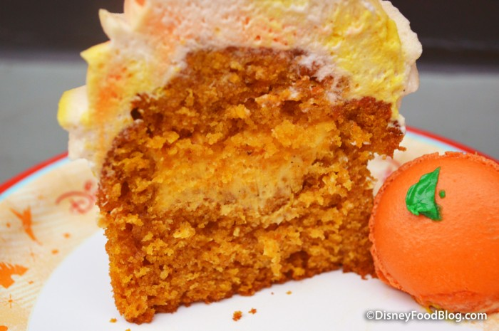 Inside the Pumpkin Cupcake