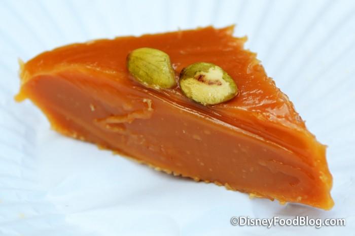 Cross-section of caramel