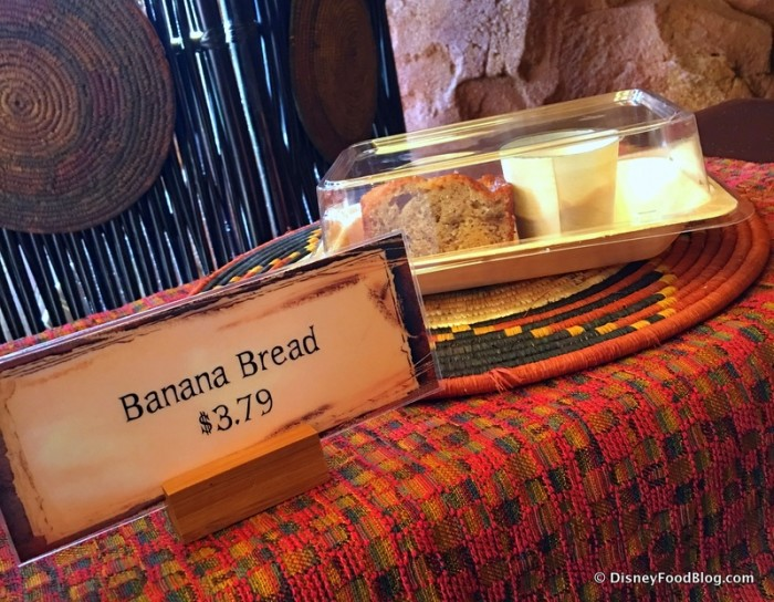 Banana Bread, One of the Breakfast Offerings