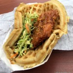 News! Sweet and Spicy Chicken Waffle Sandwich Returns to Magic Kingdom. (Just WAY Smaller and WAY More Expensive.)