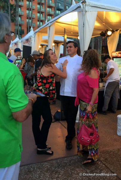 Chef Todd English and Fans
