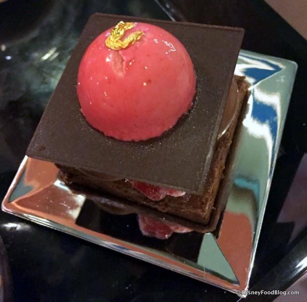 Raspberry Chocolate Fondant Cake