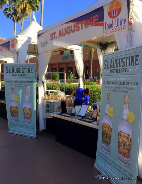 St. Augustine Distillery Booth