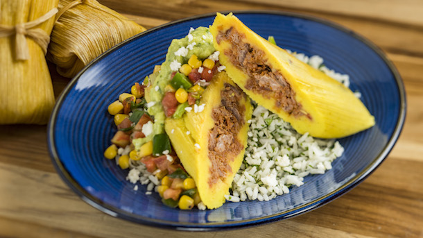 Shredded Beef Tamale with Avocado Crema at Feast of Three Kings Day © Disney