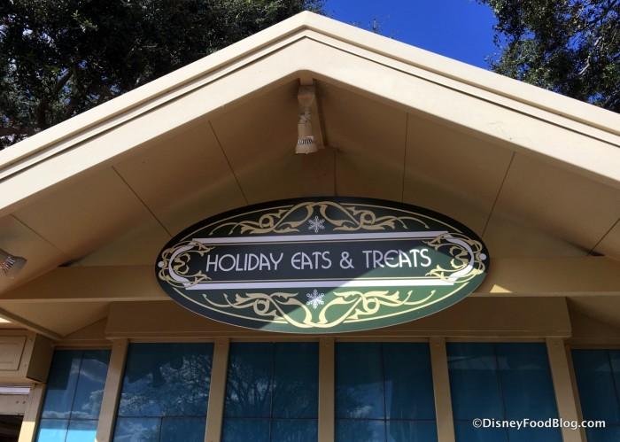 Holiday Eats & Treats sign