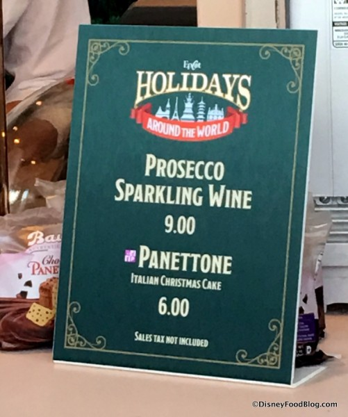 Prosecco and Panettone sign