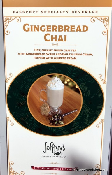 Gingerbread Chai sign