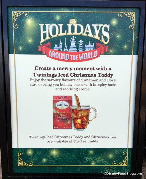 Iced Christmas Toddy sign
