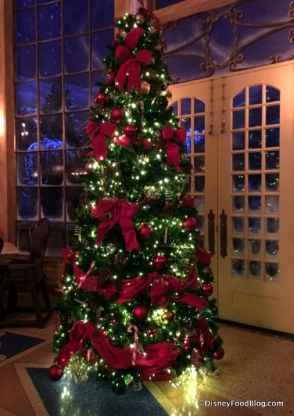 Be Our Guest Restaurant Christmas Tree