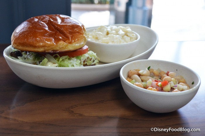 Cajun King Burger and sides