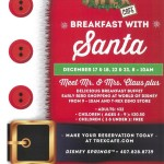 News: Breakfast with Santa at T-Rex Cafe in Disney Springs in December