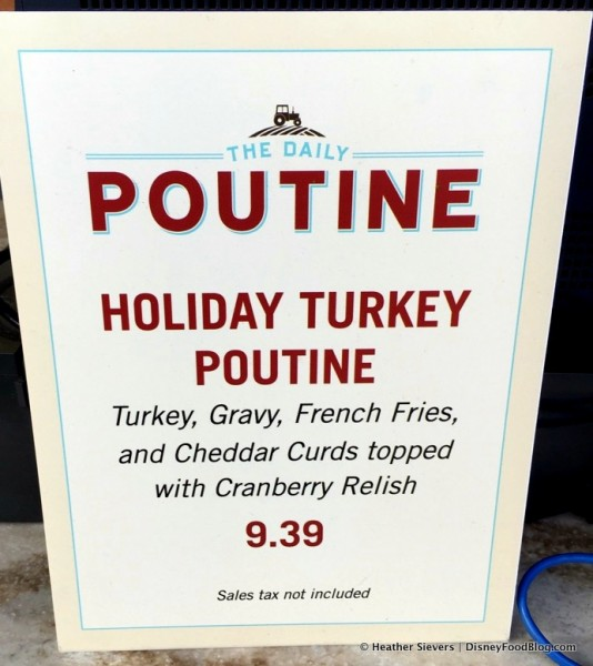 Special Menu -- Holiday Turkey Poutine