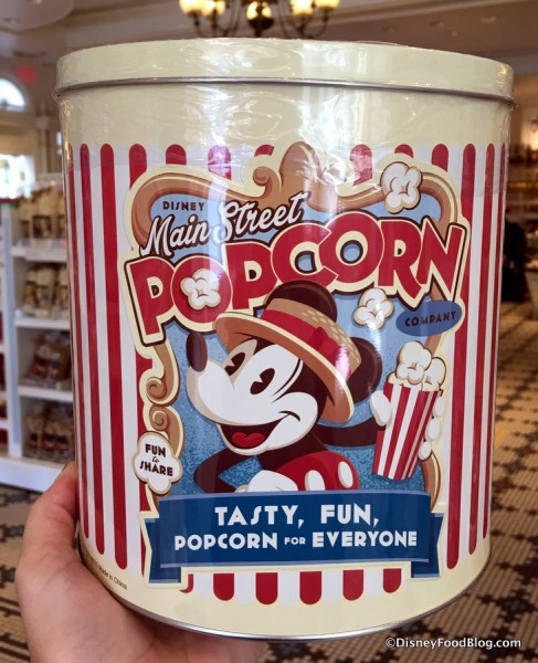 Main Street Popcorn Combo Tin