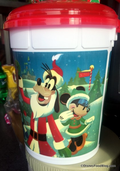 Holiday Refillable Popcorn Bucket