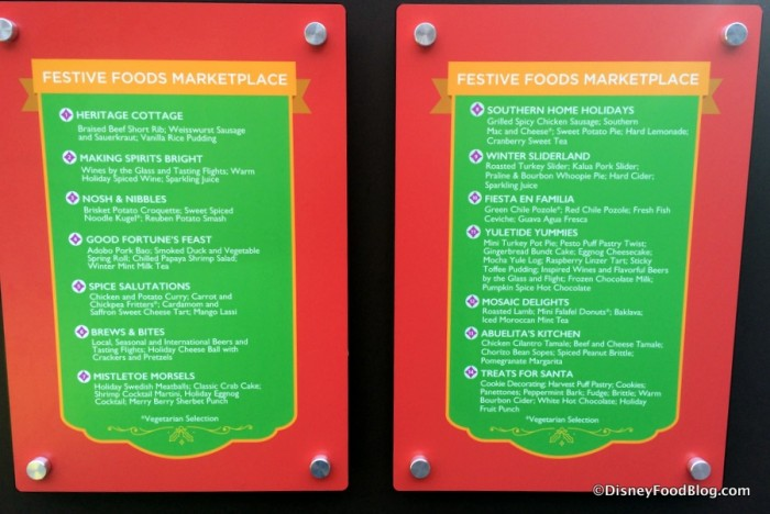 Festival of Holidays Booths sign