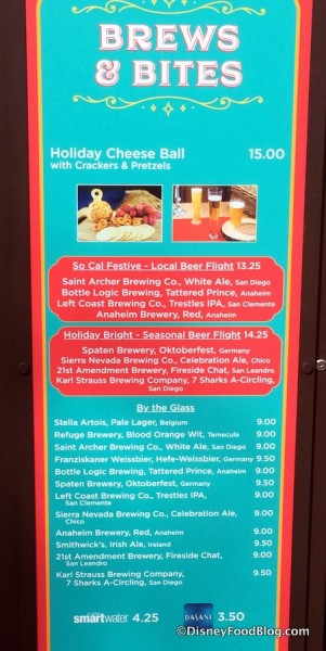 Brews & Bites Booth Menu