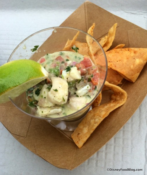 Fresh Fish Ceviche with chili-lime tortilla chips