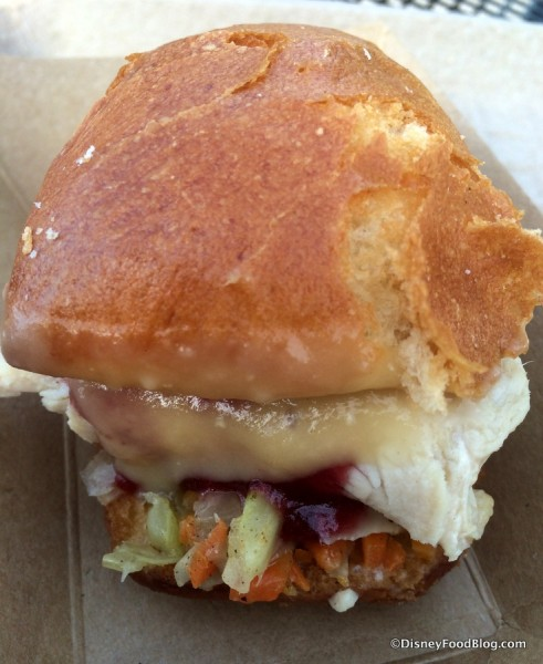 Roasted Turkey Slider with cranberry sauce and gravy